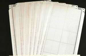 PC608 BROTHER KNITTING MACHINE 24 ST HEAVY PUNCH CARDS BLANK MYLAR RED SET X10
