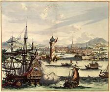 View of Havana Cuba 1700 Ships Galleon Habana Spanish Harbour 6x5 Inch Print