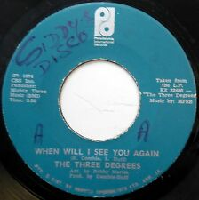 THREE DEGREES 45 When Will I See You Again / I Didn't Know JA PRESS Soul c1416