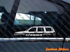 ZJ SQUAD 4x4 silhouette sticker - for Jeep Grand Cherokee ZJ | classic