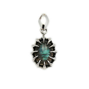 Men/'s Labradorite Rams silver pendant /& leather necklace or 925 silver Kings Chain