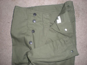 WW2 G.I HBT PANTS SIZE 38 WAIST x 34 LENGTH REPLICA TROUSERS AT THE FRONT UNUSED