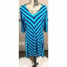 Liz Lange Asymmetrical Dress Size Xl Blue - Turqouise
