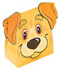 DOG FRIENDS PARTY Terrier Puppy Favour Treat Box Gift Boxes Pack of 3 Free Post