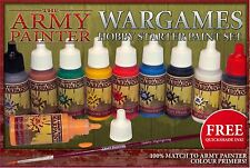 The Army Painter Warpaints Starter Paint Set + Quickshade Inks and Brush - NEW