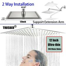 12-Inch Stainless Steel Square Rainfall Shower Head Ultra Thin Top Sprayer Usa