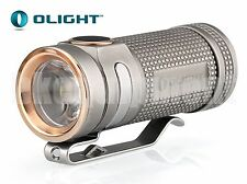 OLIGHT S-Mini Ti Cree XM-L2 EDC NW LED Titanium Flashlight BEAD BLASTED