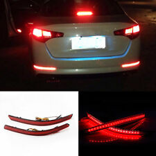 2pcs LED Rear Bumper Reflector Brake Lights For Kia Optima Magentis K5 2011-2013