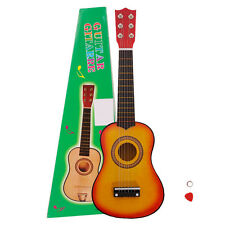 "21"" Beginners Kids Acoustic Guitar 6 String with Pick Children Kids Gift Orange"
