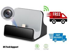 Home WiFi Network Hidden Spy Charging Dock Camera with Motion Detection Video