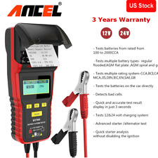 Ancel BST500 12V&24V Car Truck Battery Lode Tester Tool With Thermal Printer US