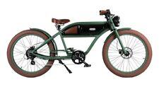 E-bike Cruiser im Retrostyle E-Fahrrad Strandcruiser Greaser green-black