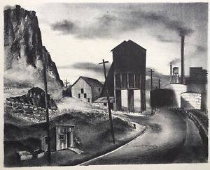 WPA Era American Lithograph by unknown artist from the estate of Will Barnet
