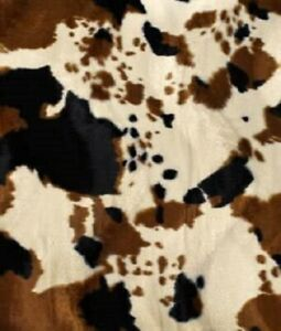 "TAN COW Faux fur Upholstery Faux fur SMALL  velboa fabric 58"" fabric"