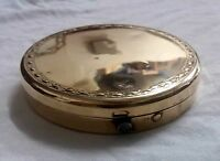 Vintage Compact Mirror Brass very nice compact