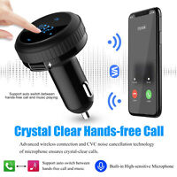 Quick Charge3.0 Wireless V4.2 Car Smart FM Transmitter Radio Adapter USB Charger