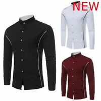 Top Casual Slim Fit Floral Stylish Shirt Mens Long Sleeve Dress Shirts Luxury