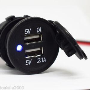 10x Dual USB Cigarette Lighter Socket Splitter 5V 3.1A Car Charger Power Outlet