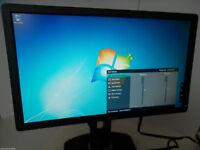"Dell P2012H Black 20"" Wide LCD Monitor DVI VGA 2-Port USB Hub W5HWR C730C 8VVND"
