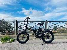 Fat Bike 750w E-Bike 20 Bicicletta Bici pieghevole elettrica 48v Nero Jeep Class