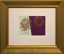 "Andy Warhol ""Kiku"" flowers japanese edition mint condition museumly framed rare"