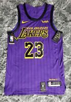 Lakers Lebron james 44 medium Nike NWT Authentic pro cut jersey city edition