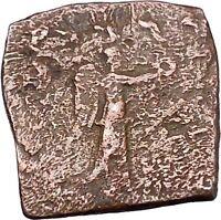 Menander I Soter 155BC Indo Greek Kingdom of India NIKE Ancient Coin i47113