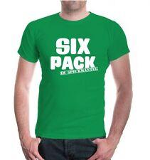 Herren Unisex Kurzarm T-Shirt Sixpack im Speckmantel lustige Sprüche Geschenk
