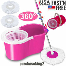 Magic 360° Spin Mop with Bucket Dual Mop Heads Set Home Floor Mop Cleaning Tool