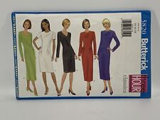 Butterick Sewing Pattern 5820 Misses Dress Size 14 16 18 Petite -open not used