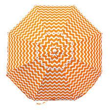 SHELTA Newport Chevron 200Cm Beach Shade Umbrella Tilt 98% UV UPF50+ Orange