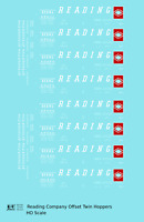 K4 HO Decals Reading Offset Twin Hopper White Speed Letter