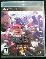 Under Night In-Birth Exe: Late Ps3 Playstation 3 Complete Tested Rare Aksys