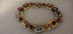 Vintage Holly Yashi Niobium Gem Bracelet  SIGNED