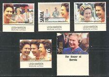 QUEEN ELIZABETH II ACCESSION  ANNIVERSARY ON SAMOA 1992 Scott 805-809, MNH