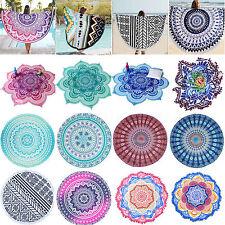 Bohemian Mandala Beach Hippie Tapestry Throw Towel Blanket Bedspread Mat Round