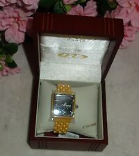 Oniss Paris crystal Accented  Hi tech yellow Ceramic black dial Watch new