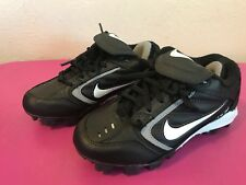 Nike Expand Tech Athletic Cleats Black/Silver 307013-011 Sneakers Kids Sz 1Y Ex