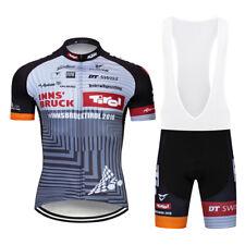 Men's Pro Cycling Jersey Bib Shorts Kits 2020 Mtb Gray Riding Shirt Shorts Set