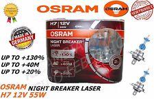 PAAR LAMPEN OSRAM NIGHT BREAKER LASER H7 12V 55W +130% LICHT 64210NBL-HCB