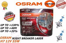 COPPIA LAMPADE OSRAM NIGHT BREAKER LASER H7 12V 55W +130% LUCE 64210NBL-HCB
