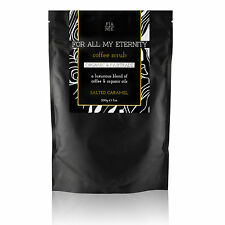 Organic Natural COFFEE BODY SCRUB SALTED CARAMEL - For Cellulite & Stretch Marks