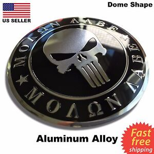 ALUMINUM 2nd Amendment Decal Sticker Molan Labe Emblem Right To Bear Arms NRA