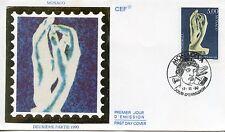 FDC / PREMIER JOUR / MONACO / AUGUSTE RODIN / LA CATHEDRALE 1990