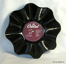 """BOB SEGER Recycled Record Bowl - """"Live Bullet"""" (1976) Rock Music LP Gift"""