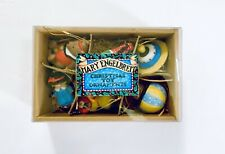 Mary Engelbreit Set Of Six 6 Christmas Ornaments Vintage Toys Porcelain In Box