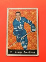 George Armstrong 1961-62 Parkhurst Hockey Card #17  See Photos for Condition