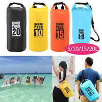 Waterproof Dry Bag 5L 10L 15L 20L Storage Pack Winter/Summer Outdoor Sport Beach