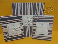 Pottery Barn Kids Lakehouse Stripe Bed Duvet Cover Full Queen FQ Standard Shams