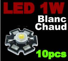 183/10# LED de puissance 1W  blanc chaud  10pcs